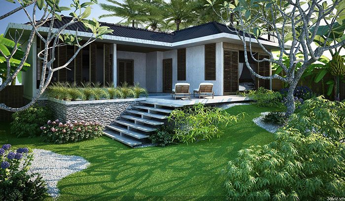 Các mẫu thiết kế nhà vườn đẹp kiểu thái ai cũng mê
